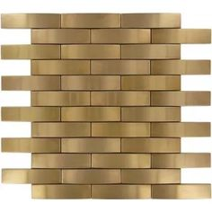 Weave Bronze/Copper 1'' x 4'' Metal Brushed Tile