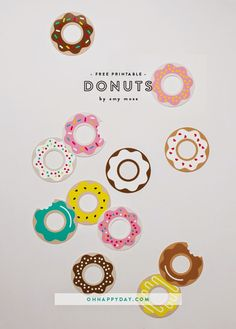 Math In My Head: Grace's Donut Birthday Brunch and {Chalkboard Party Favor DIY}