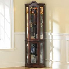 Pulaski Furniture Oxford Black Corner Curio Cabinet | Furniture ...
