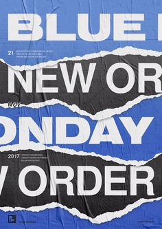 "playlistposters:  ""Playlist posters // blue monday - new order  """