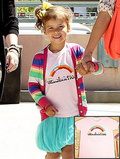 Does Honor Warren spot her pot of gold?Sporting a colorful ensemble while out in Beverly Hills with mom Jessica Alba on June the adorable achieved rainbow bright perfection with a striped cardigan, cute tee and bubble skirt. Bubble Skirt, Girl Things, 4 Year Olds, Celebrity Babies, Striped Cardigan, Jessica Alba, Baby Design, Sweet Girls, 4 Years