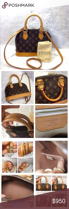 Louis Vuitton Alma BB 100% Authentic Louis Vuitton Monogram Alma BB. Comes with Strap ,Dust bag. Date code:FL1140. ❌No Trade❌. I have a good price my website please look. www.tradesy.com/closet/miraclecloset Louis Vuitton Bags Crossbody Bags