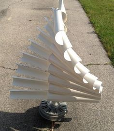 A Vertical Wind Generator from Washing Machine Motor DIY Project