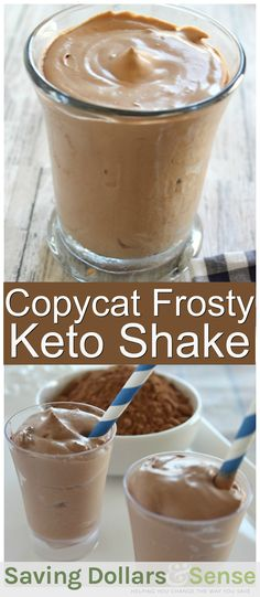 This Copycat Frosty Keto Shake is the perfect treat when you are craving something sweet! Using this simple recipe, enjoy a chocolate keto shake anytime. Smoothie Bowl Vegan, Keto Smoothie Recipes, Shake Recipes, Chocolate Smoothie Recipes, Keto Recipes, Smoothie King, Avocado Smoothie, Protein Recipes, Keto Shakes