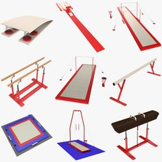 Olympic gymnastics equipment model collection from Tornado Studio. Available on … - olympic gymnastics Gymnastics Supplies, Gymnastics Equipment For Home, Gymnastics At Home, Gymnastics Gear, Outdoor Gym Equipment, Tumbling Gymnastics, Gymnastics Party, Gymnastics Videos, Gymnastics Workout
