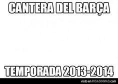 Cantera del Barça 2013-14.