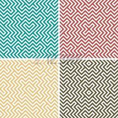 Cuatro color simple geométrica perfecta Foto de archivo