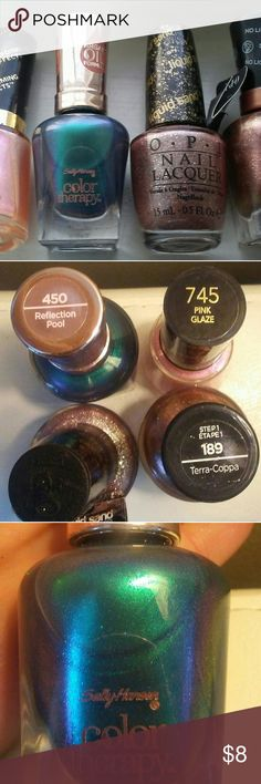 NEW* Opi, Sally Hanson & Revlon nail polish. Never used. All gorgeous colors. Under 2 weeks old. Revlon Makeup