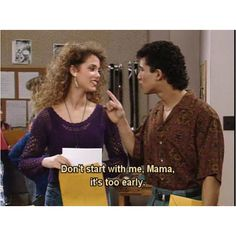 Saved By the Bell.its so funny how he calls her mama