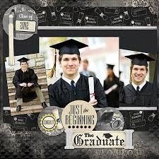 Image result for scrapbooking graduation double page layout ideas