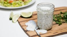 Recipe for homemade Buttermilk Ranch Dressing.  I am going to make this soon.