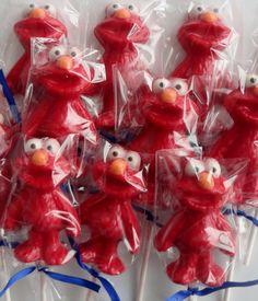 Chocolate Lollipops -- ELMO -- Kids Sesame Street Birthday Party favors, Baby Shower favors, Childrens Gift