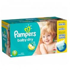 Pack économique 124 Couches de Pampers Baby Dry taille 6 sur Couches Zone
