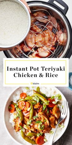 Learn how to cook flavorful chicken teriyaki, steamed vegetables, and rice all at once in your Instant Pot. Rice Recipes, Cooking Recipes, Cooking Tips, Recipies, Cooking Quotes, Cooking Videos, Easy Recipes, Healthy Recipes, Teriyaki Chicken And Rice
