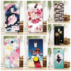 "Painted Mermaid Flamingo Case For Xiaomi Hongmi Note 4X Redmi Note 4X Case Cover 5.5"" Hard Plastic Funda Redmi Note 4X+Gift"