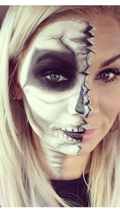 Halloween face makeup costume day of the dead skull