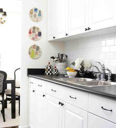 black and white kitchen update