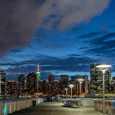 """Noel Y. C. on Instagram: """"One Night at the Gantries. View of midtown Manhattan…"""