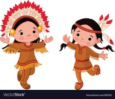 Buy American Indians dancing by Dazdraperma on GraphicRiver. Cute couple of American Indians children dancing Native American Art, American Indians, American Cartoons, Pumpkin Vector, Cowboys And Indians, Drawing For Kids, Cartoon Characters, Cute Kids, Cute Couples