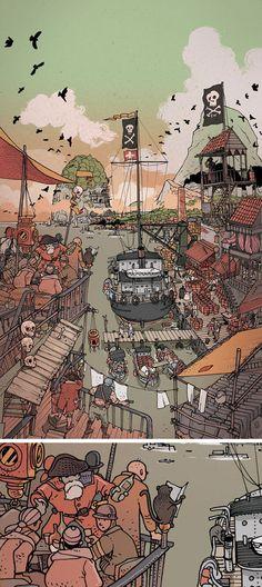 Illustrations by Jared Muralt, a talented illustrator from Bern, Switzerland.  http://www.designer-daily.com/illustrations-by-jared-muralt-48460
