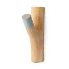 Colgador de madera natural y pintado a mano Tree Branch Hook (Big Size)