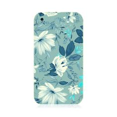 Blue And White Flowers iPhone 3G/3GS Case