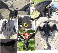 TOOTHLESS 5FT PLUSH by *Monoyasha on deviantART    Need to make a smaller one to lurk in the back window of my new car