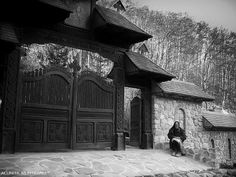 Waiting - sculpted wooden gate - Robaia, Arges County, Romania