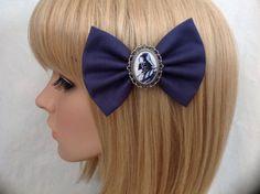 Star Wars Darth Vader hair bow clip rockabilly psychobilly disney kawaii pin up fabric blue r2d2 c3po geek Luke skywalker ladies girls women