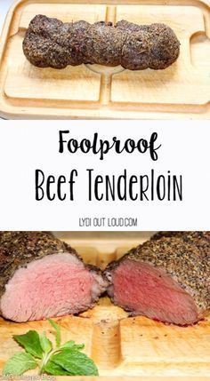 The most delicious Beef Tenderloin and it's so easy to make! dinner recipes vegetarian Foolproof Beef Tenderloin Recipe - Lydi Out Loud Beef Dishes, Food Dishes, Main Dishes, Roast Recipes, Cooking Recipes, Recipes Dinner, Christmas Dinner Recipes, Christmas Dinners, Game Recipes
