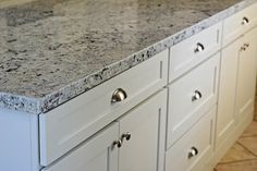 Prodigious Small kitchen remodel with island before and after tips,Kitchen remodel kansas city and Small kitchen remodel ideas 2019 tips. White Kitchen Counters, White Granite Countertops, Granite Kitchen, Kitchen Flooring, Kitchen Countertops, Kitchen Island, Kitchen Cabinets, Narrow Kitchen, Ikea Kitchen
