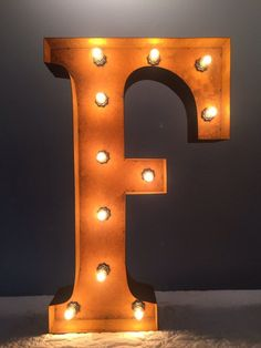 24 Vintage Marquee Light Letter F Rustic By MarqueeWholesales