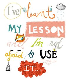 lessons learned - LOVE this!