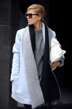 Sirma Markova: Wrap in Powder Blue/ Choies powder blue coat - http://www.choies.com/product/blue-lapel-coat_p20715?cid=370bella