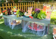 "PREVIEW! ""Succulent Picnic Food Covers"" on Home & Family show, Friday, Sept. 4 on Hallmark channel.  You won't believe they were made with wood crates and succulents planted in socks! Shirley Bovshow and Tanya Memme show you how."