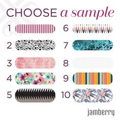 Spring Samples! Never tried Jamberry nails? Message me today for a free sample :)