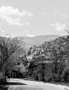 This is the town of Pretoro, in the region of Abruzzo, Italy - Prints available -