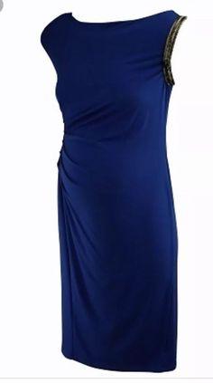 e5b58f68b52cd a pea in the pod maternity Dress In Royal Blue Size M  fashion  clothing