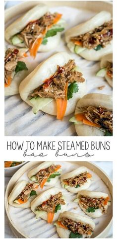 How to make Chinese steamed buns (bao buns)