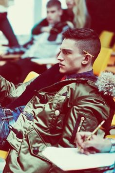 Cool hair, jacket is top notch as well.