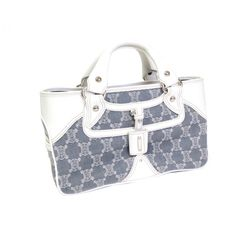 celine grey cloth handbag boogie