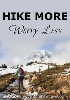 """""""Hike More Worry Less"""" #hiking #quotes #adventurequotes #inspirationalquotes #hike #hikingquotes Hiking Quotes, Travel Quotes, Franklin Falls, Winter Hiking, Get Outdoors, Adventure Quotes, Round Trip, Mountain Landscape, Wonders Of The World"""