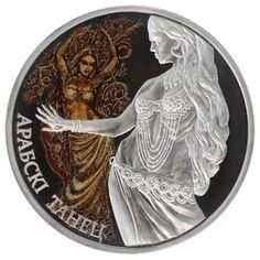 // Gold Silver Art: ARABIC DANCE - Magic Of The Dance Belly Silver Coin Belarus 2011