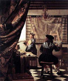 Una costante dei quadri d'interni di Vermeer è quella di rappresentare l' angolo molto ristretto della scena da rappresentare in modo parziale. In genere lo spazio è illuminato da una finestra collocata sulla sinistra.