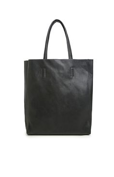 LC Vegan Leather Tote in Black | DAILYLOOK