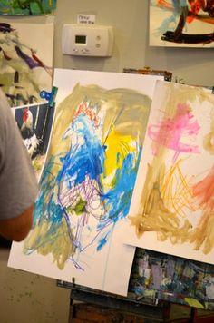 Student work from #RobertJoyner Workshop at @Vino and van Gogh