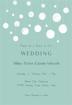 Suspended Circles - Free Printable Wedding Invitation Template | Greetings Island