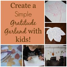 A simple gratitude garland you can make with kids! Leaf rubbings and preserved leaves are the perfect fall craft! Thanksgiving Activities For Kids, Craft Activities For Kids, Thanksgiving Crafts, Fall Crafts, Projects For Kids, Preschool Activities, Halloween Crafts, Crafts For Kids, Diy Crafts