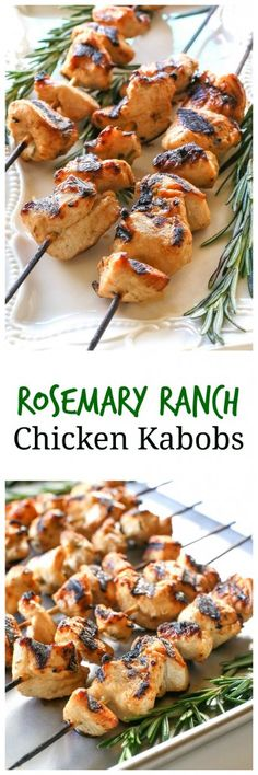 Rosemary Ranch Chicken Kabobs - light, easy, and delicious! the-girl-who-ate-everything.com