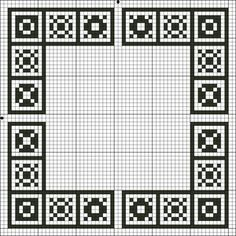 Free Placemat, Coaster and Napkin Ring Cross Stitch Patterns - Printable Charts…